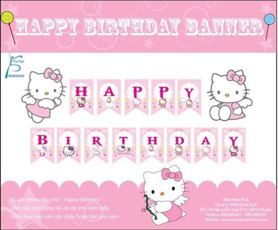Dây Chữ Happy Birthday Kitty