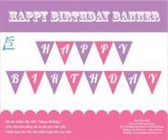 Dây chữ Happy Birthday màu hồng tím