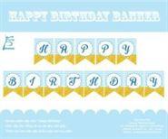 Dây chữ Happy Birthday màu xanh da trời