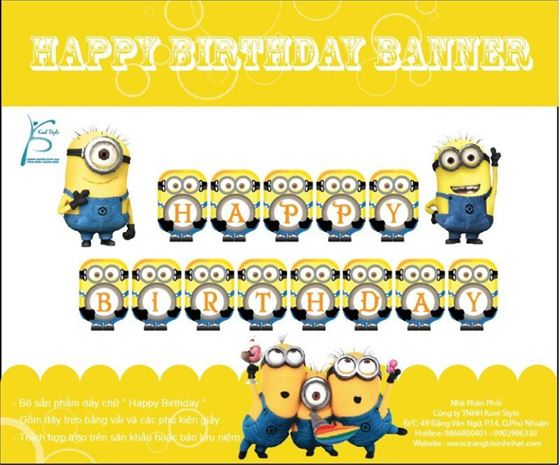 Dây Chữ Happy Birthday  Minion