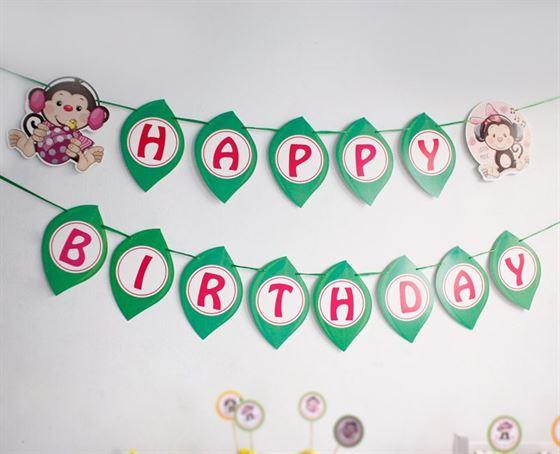 Dây chữ sinh nhật bé gái Tuổi Khỉ