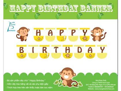 Dây chữ sinh nhật bé trai Tuổi Khỉ