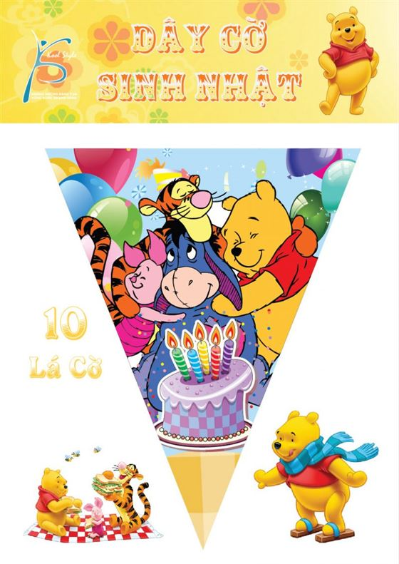 Dây Cờ Sinh Nhật Gấu Pooh