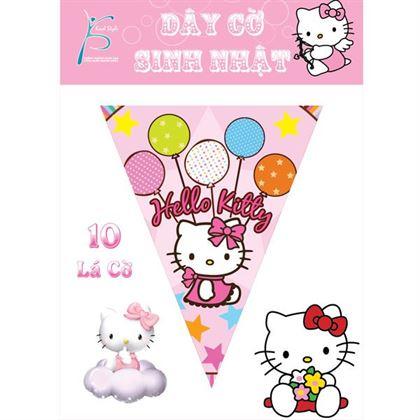 Dây cờ trang trí sinh nhật Hello Kitty