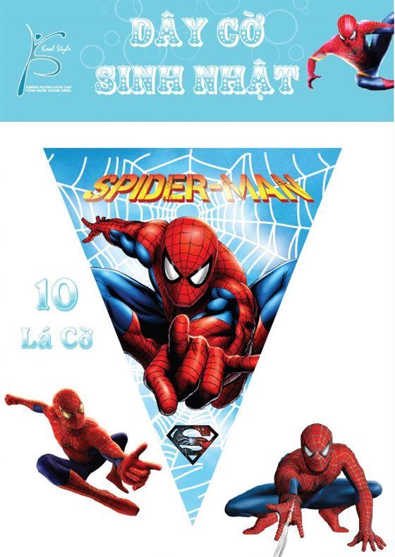 Dây Cờ Sinh Nhật người nhện - Spiderman