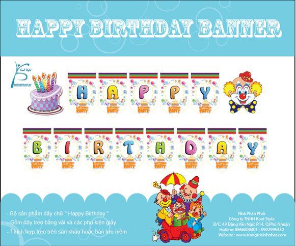 Dây chữ sinh nhật Happy Birthday