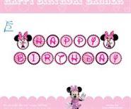 Dây chữ Happy Birthday Chủ Đề Minnie