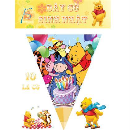 Dây Cờ Sinh Nhật Chủ đề Gấu Pooh