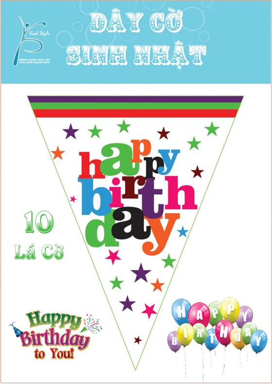 Dây Cờ Sinh Nhật chủ đề Happy Birthday