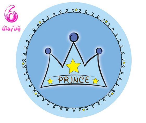 Đĩa giấy sinh nhật chủ đề hoàng tử