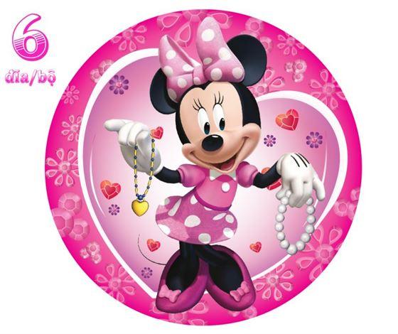 Đĩa Giấy Trang Trí Sinh Nhật Minnie