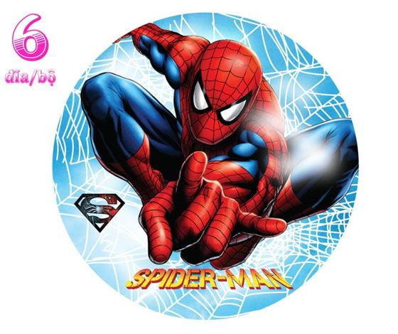 Đĩa Giấy Sinh Nhật chủ đề Spiderman