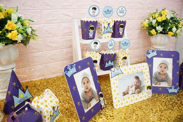 Đồ phụ kiện sinh nhật set mini hoàng tử