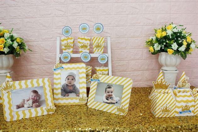 Đồ phụ kiện trang trí sinh nhật set mini dành cho bé trai