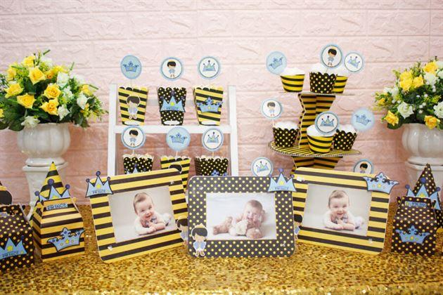 Đồ phụ kiện trang trí sinh nhật full set hoàng tử