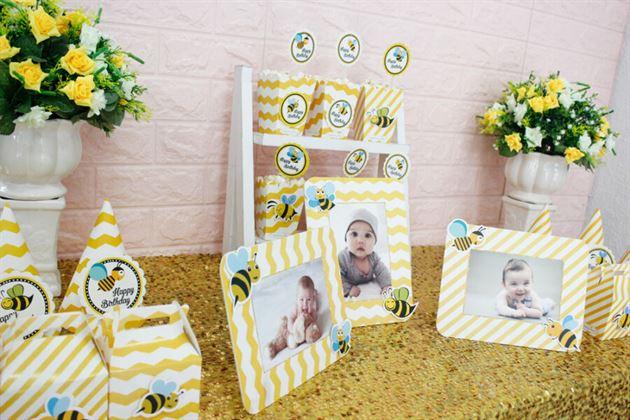 Đồ trang trí sinh nhật bé ong vàng