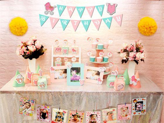 Full set baby girl màu hồng xanh min