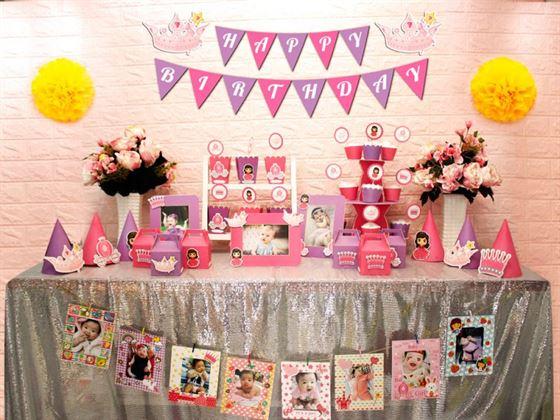 Full set công chúa màu hồng tím