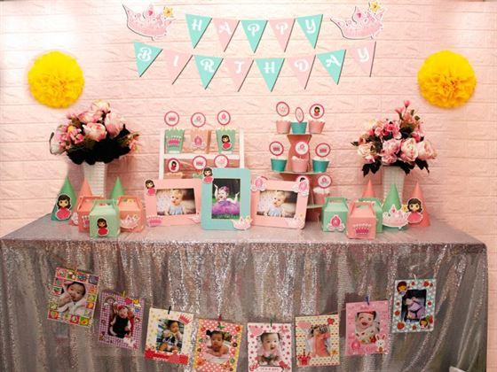 Full set công chúa màu hồng xanh min