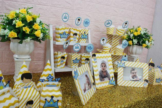 Full set với tông màu vàng zigzag thật đặc biệt cho trang trí sinh nhật