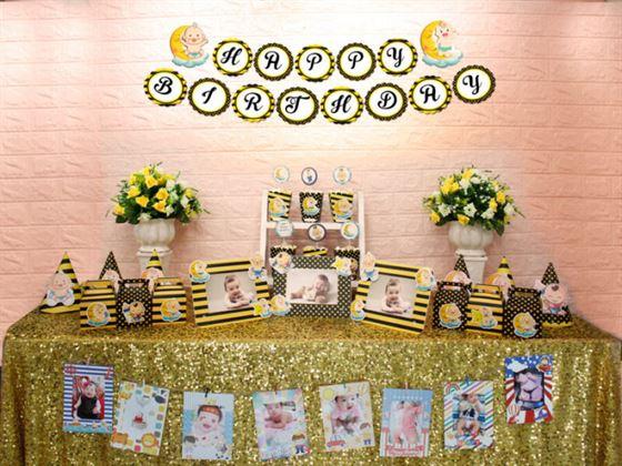 Full set baby boy màu vàng đen