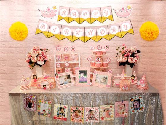 Full set công chúa màu hồng hoàng gia