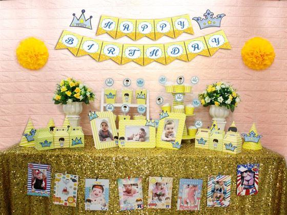 Full set hoàng tử màu vàng hoàng gia