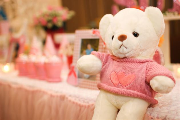 Gấu bông sinh nhật bé yêu