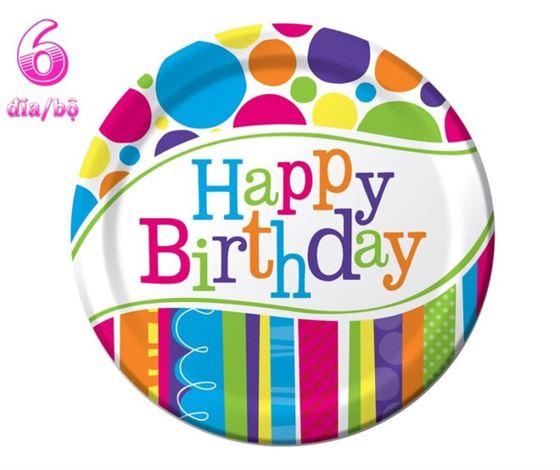 Đĩa Giấy Sinh Nhật Happy Birthday