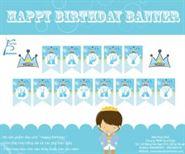 Dây chữ Happy Birthday Chủ Đề Hoàng Tử