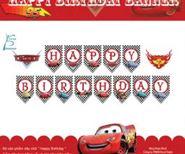 Dây chữ Happy Birthday Chủ Đề Mc Queen