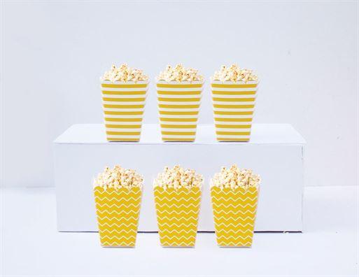 Hộp đựng bắp rang bơ màu vàng hoàng gia