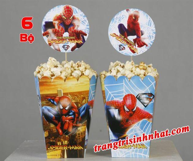 Hộp Đựng Bắp Rang Bơ chủ đề Spiderman