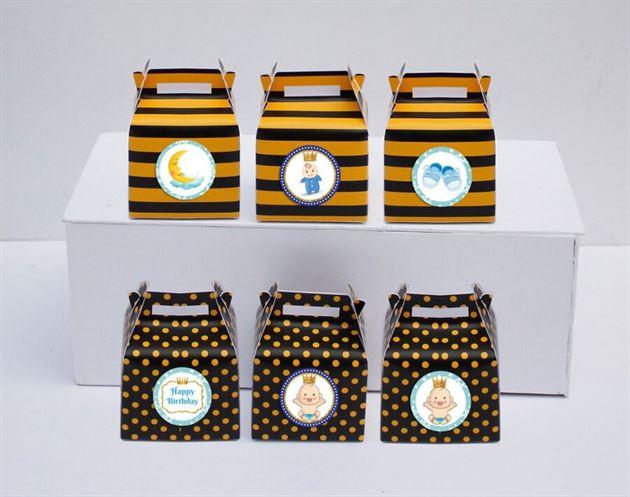 Hộp quà sinh nhật baby boy màu vàng đen
