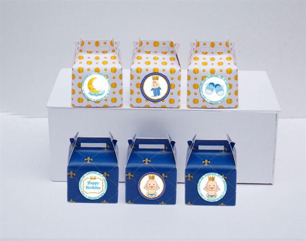 Hộp quà sinh nhật baby boy màu xanh hoàng gia