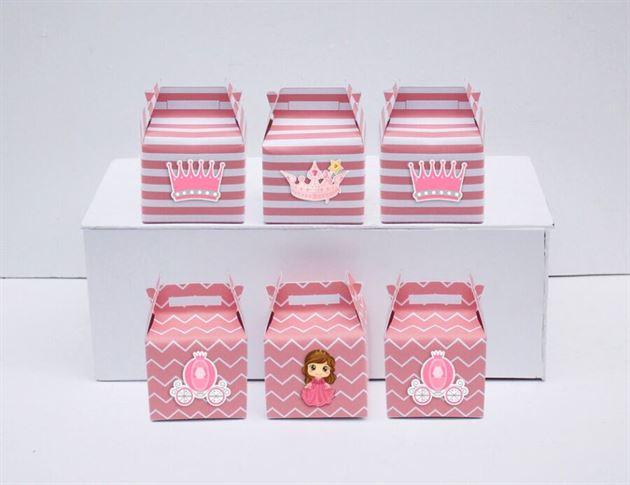 Hộp quà sinh nhật công chúa màu hồng hoàng gia
