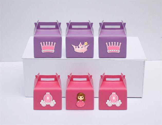 Hộp quà sinh nhật công chúa màu hồng tím