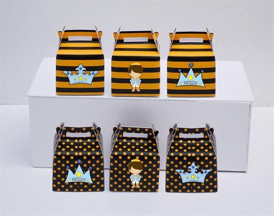 Hộp quà sinh nhật Hoàng Tử màu vàng đen