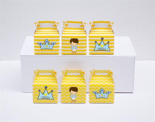 Hộp quà sinh nhật Hoàng Tử màu vàng hoàng gia