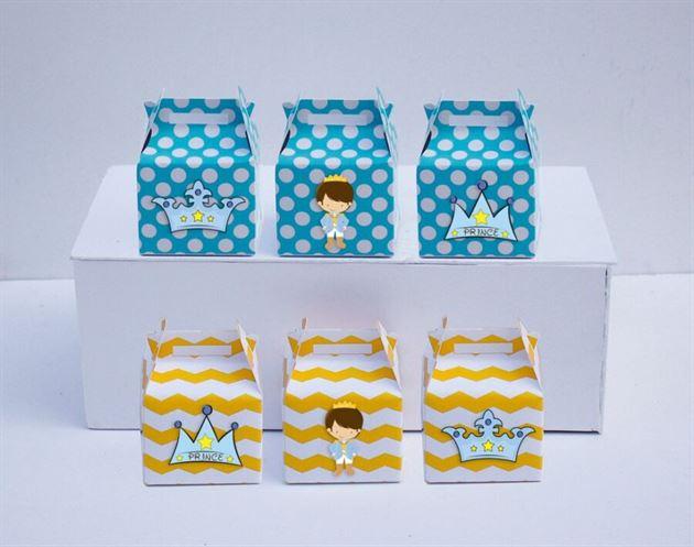 Hộp quà sinh nhật Hoàng Tử màu vàng xanh min