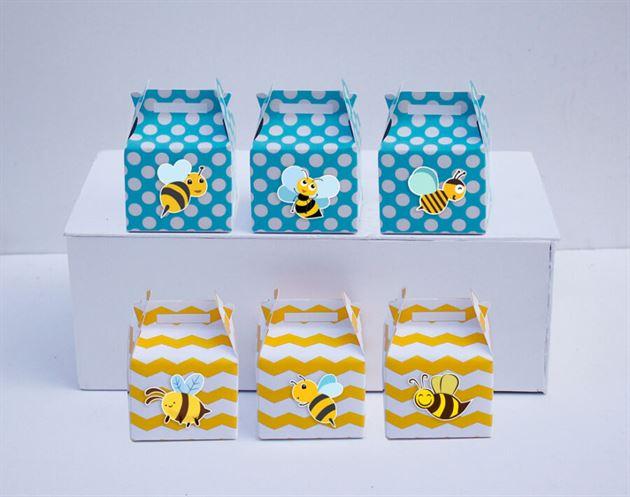 Hộp quà sinh nhật Bé Ong màu vàng xanh min