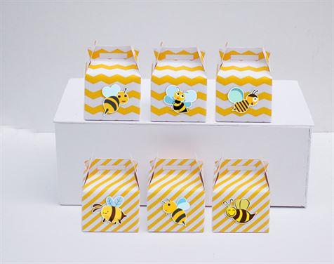 Hộp quà sinh nhật Bé Ong màu vàng zigzag