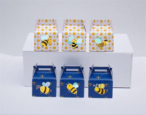 Hộp quà sinh nhật Bé Ong màu xanh hoàng gia