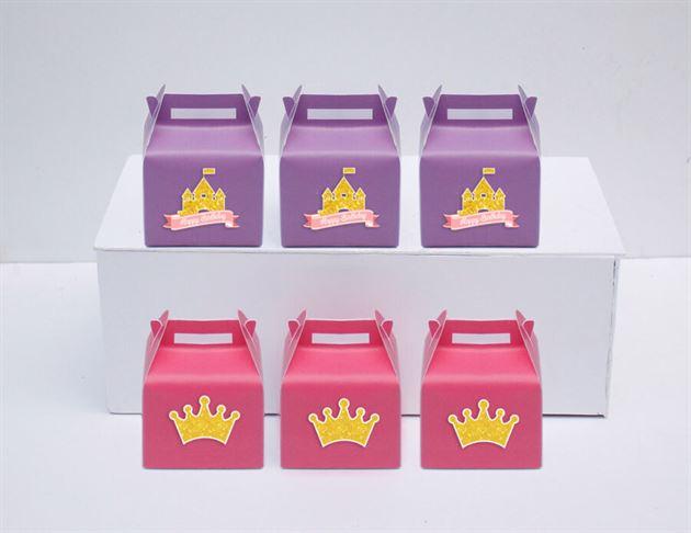 Hộp quà sinh nhật Vương Miện Bé Gái màu hồng tím