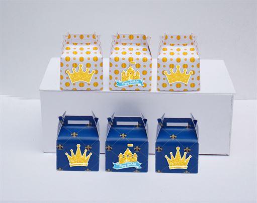 Hộp quà sinh nhật Vương Miện Bé Trai màu xanh hoàng gia