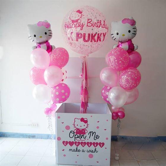 hộp quà bong bóng sinh nhật bé gái