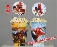 Hộp đựng bắp chủ đề Spiderman