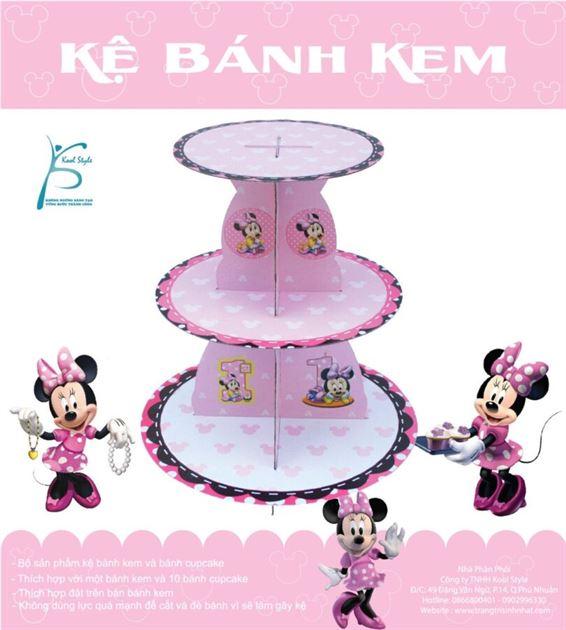 Kệ Bánh Kem Sinh Nhật Chủ Đề Minnie