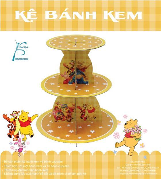 Kệ Bánh Kem Sinh Nhật Chủ Đề Gấu Pooh