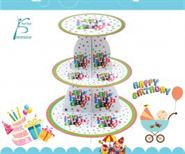 Kệ Bánh Kem Sinh Nhật Chủ Đề Happy Birthday